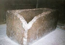 Sarcophagus in the great pyramid